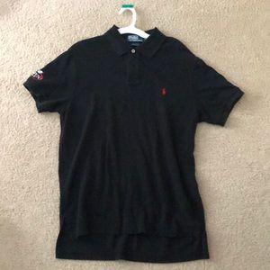 Black Men's Polo Ralph Lauren Shirt Large custom